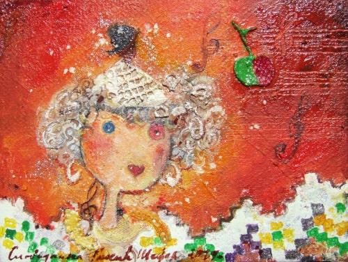 Tatina princeza , slika Slobodanke Bobe Šefer